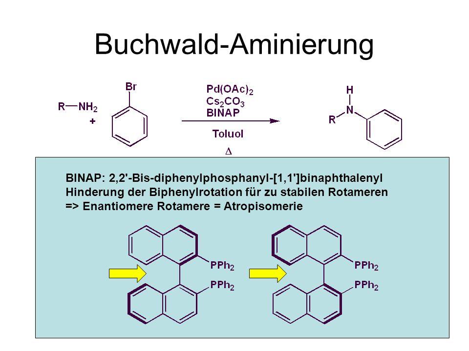 Buchwald-Aminierung BINAP: 2,2 -Bis-diphenylphosphanyl-[1,1 ]binaphthalenyl.